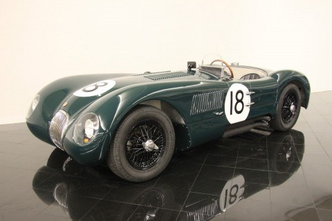 1953 Jaguar C-Type Alloy Body Replica #18 Lemans Racer for sale