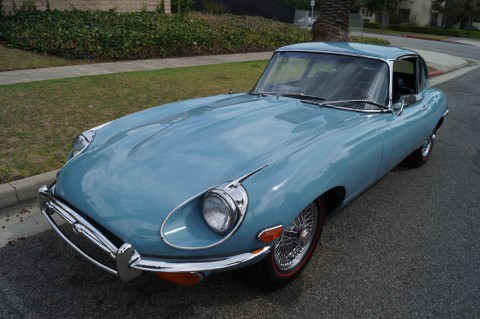 1970 Jaguar E Type XKE 2+2 Coupe IN Striking 'light Blue' COLOR for sale