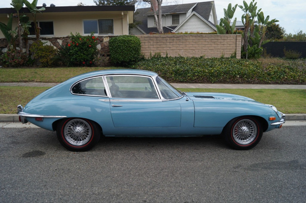 1970 Jaguar E Type Xke 22 Coupe In Striking Light Blue Color on 1969 jaguar xke