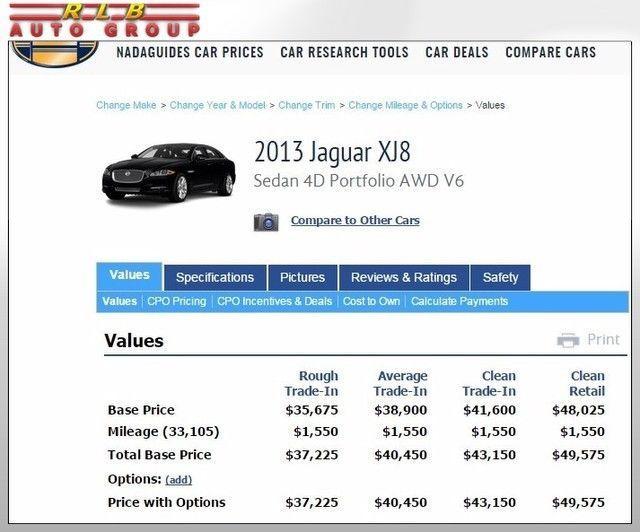 2013 Jaguar XJL Portfolio AWD