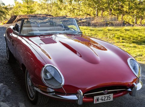 1965 Jaguar E-Type Series I Biscuit leather for sale